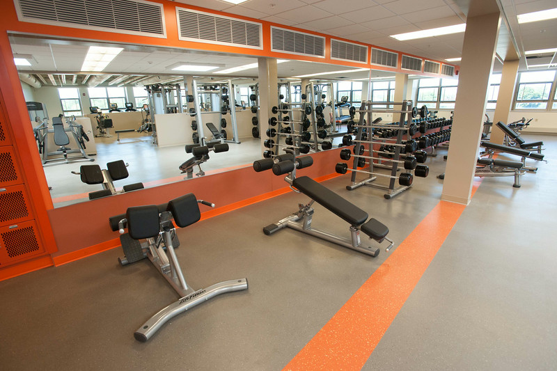 """Student Fitness Center in newly renovated Houston Gym at SUNY Buffalo State."""